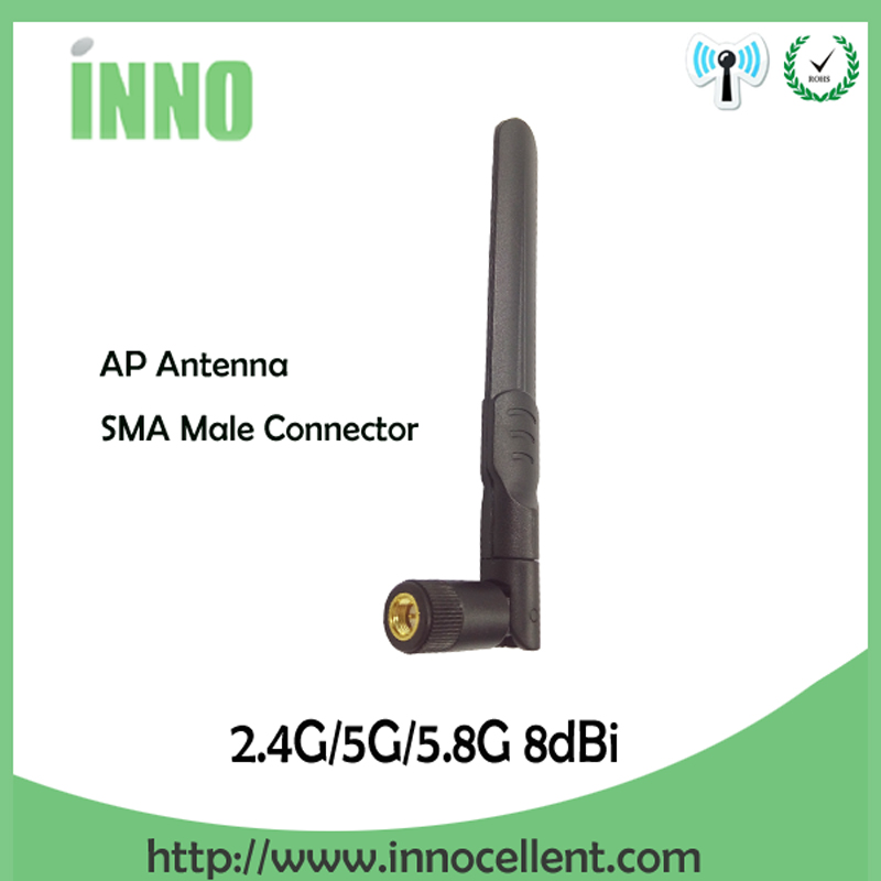 Communication Equipments 2.4 Ghz 5.8 Ghz 5g Wifi Antenna 8dbi Sma Male Connector Dual Band 2.4ghz 5.8g 5g Wi Fi Antenne Aerial Wireless Router Antena