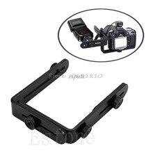 Siv Metalen L Vormige Dubbele Dual Beugel/Houder Voor Camera & Speedlite Flash Rental & Dropship