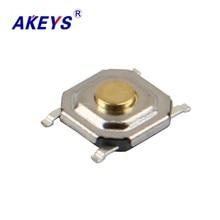 цена на 200PCS TS-C005 4*4*1.5H/2.5H/5H Ultra thin square waterproof tact switch 4 pin SMD/SMT copper top mini switch