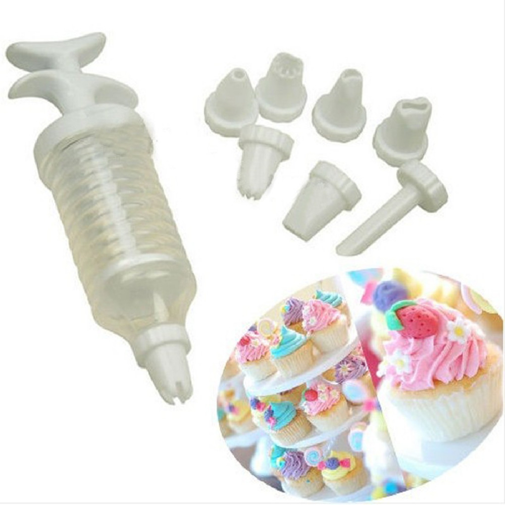 Nozzles Icing Cake Decorating Tool Set Piping Syringe Modelling Tools Bakeware - Pingzi_Store store