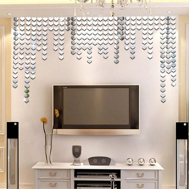 115 Pcs Modern Self Adhesive Mirror Tiles Stickers Tile Wall