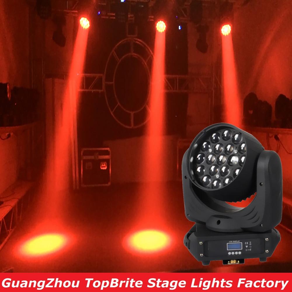 2016 NEW 19 * 12W 4IN1 LED ճառագայթով շարժվող գլխի լույս DMX512 բարձրորակ խոշորացում 16 CHs RGBW պրոֆեսիոնալ բեմի լուսավորության պրոյեկտոր