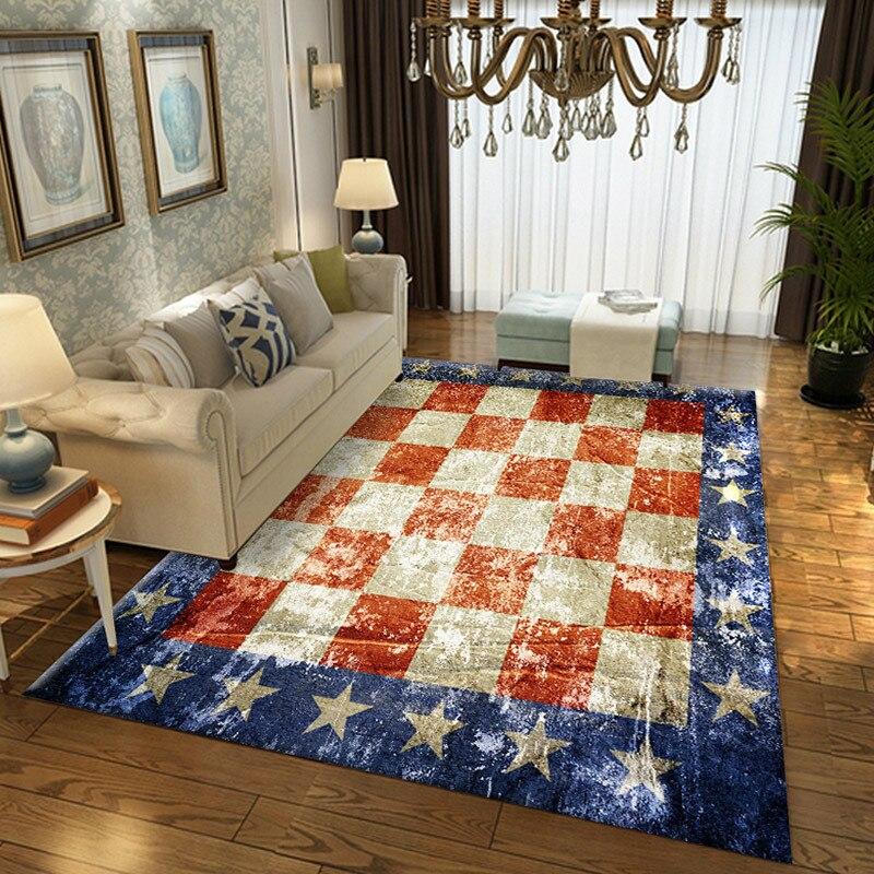 Tapis de style turc pour salon table basse canapé chambre chevet petits tapis et tapis ménage grande taille Rectangle tapis