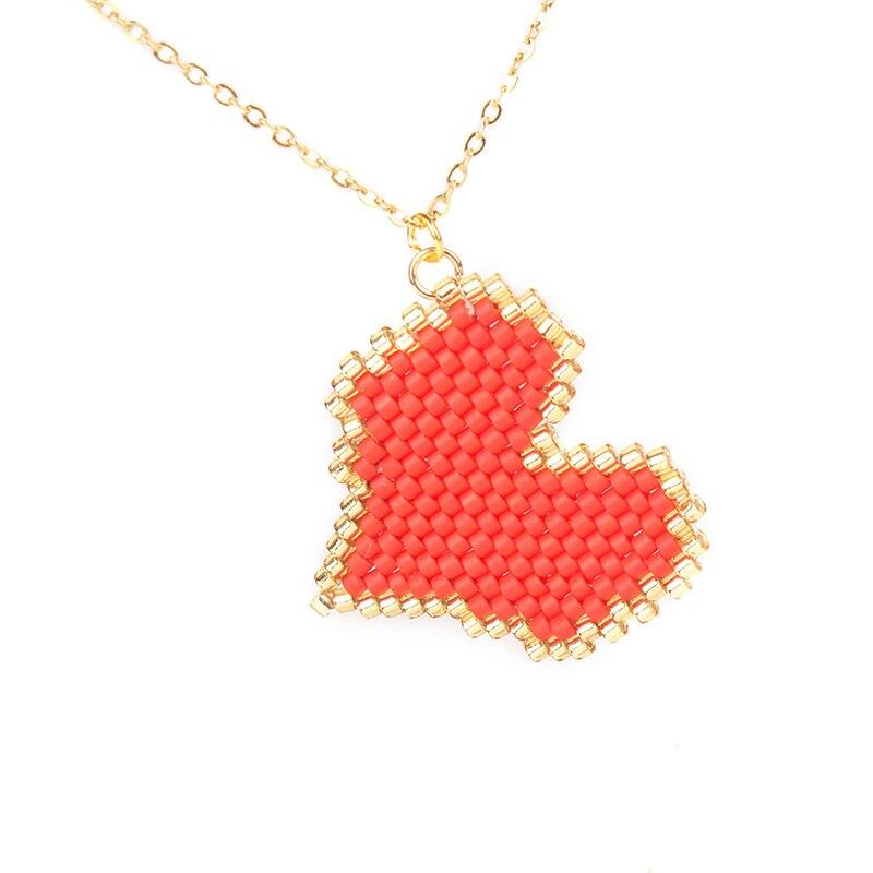 """Heißer 2019 Einfache """"boho Dropshipping"""" Meine Liebe Anhänger Halskette """"miyuki"""" Perle Gold Handgemachte Halskette Frauen Fatima Schmuck Geschenk"""