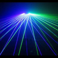 New Design Blue Green Laser Man Party Glasses With 2 Pcs Lasers For Laser Show Event