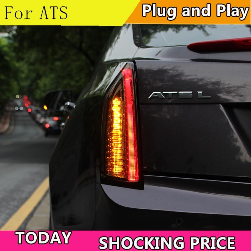 Car Styling for Cadillac ATS Taillights 2014 2017 for Cadillac ATS LED Tail Lamp Turn Signal