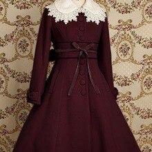 Лидер продаж; милое теплое зимнее пальто в стиле Лолиты; зимние длинные пальто; все размеры