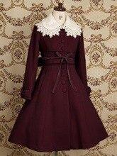 Top Sale Lovely Warm Winter Cute Lolita Coat Winter Long Coats All Size