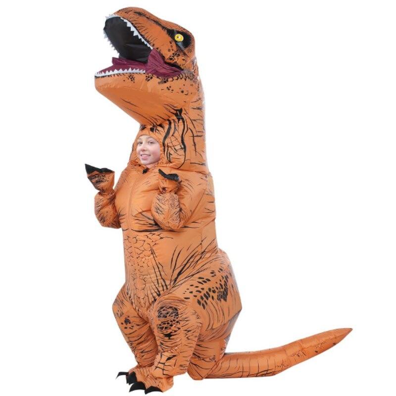b3350c0ae Inflable de dinosaurio T REX traje niños niña niño explosión de Halloween  traje de la fiesta para niños traje de los niños de 6 a 9 años en de en ...