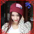 Brand New women Hip Hop Ring Warm Beanie Cap Winter Autumn Women Knitted Hats Beanies Skullies American flag Beanies