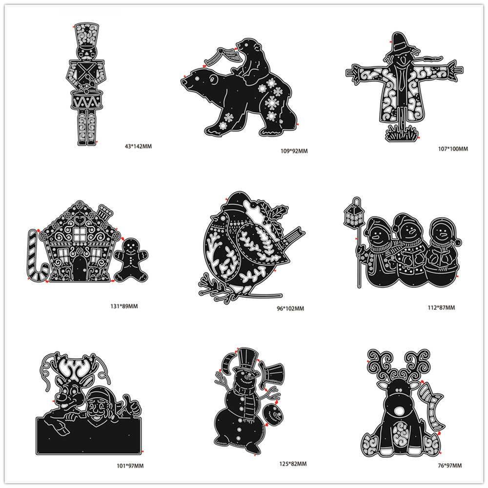 Снеговик Рождественская серия штампы металлические режущие штампы новые 2019 штампы Скрапбукинг Новые поступления ремесло штампы фон для изготовления карт