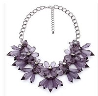Vintage Statement Jewelry Flowers Chain Chunky Necklace Pendants Costume Accessories Wholesale Maxi Colar Collier Collar Kolye