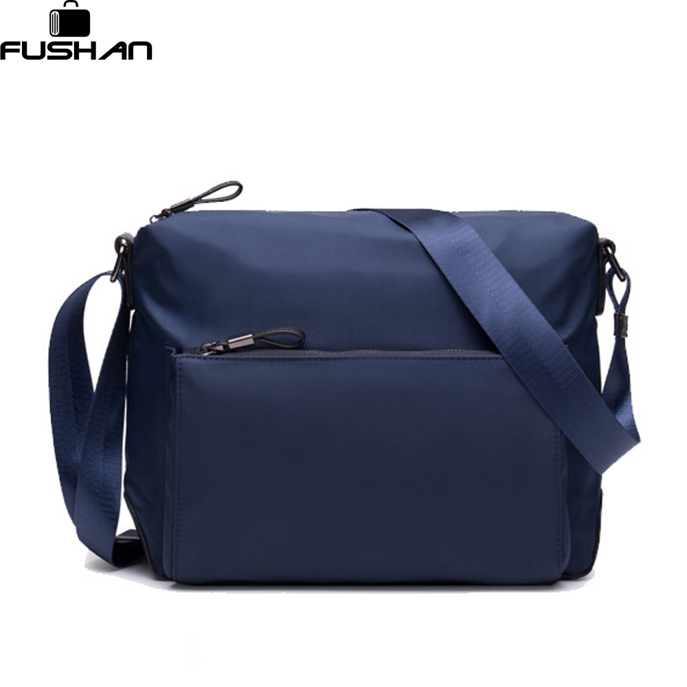 все цены на  FUSHAN New Fashion Man Bag High Quality Nylon Men Messenger Bags Black famous brand waterproof  Male Shoulder Crossbody Bag  онлайн