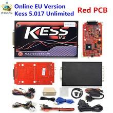 Más reciente KTAG KESS V2 V5.017 PCB Rojo V7.020 SW V2.23 Maestro Funcionar Mejor KTAG K-TAG ECU Chip Tuning Tool 7.020 En Línea V7.003