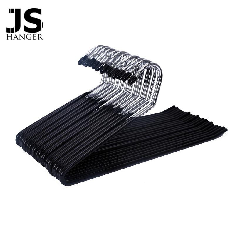 j s cintre 20 pack ouvertes pantalons pantalon cintres chrome et noir friction non slip dans. Black Bedroom Furniture Sets. Home Design Ideas