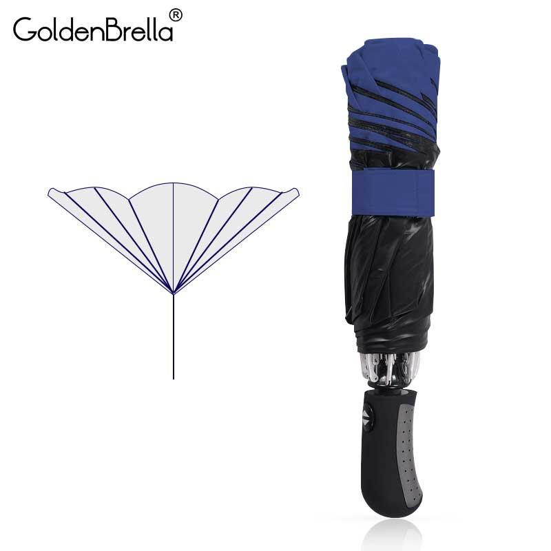 Marca de alta calidad negro revestimiento Paraguas automático inversa Color de moda 3 plegable soleado invertido paraguas lluvia mujeres hombres
