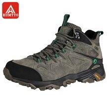 Zapatos de senderismo HUMTTO para hombre, calzado de escalada para deportes al aire libre de invierno, zapatillas de Trekking con cordones antideslizantes de gran tamaño