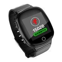 Relógio Inteligente GPS + LBS + WIFI posicionamento idosos SOS Rastreador GPS relógio com monitor de freqüência cardíaca