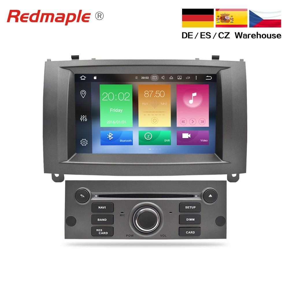 4G RAM Android 9.0 Car DVD Player GPS de Navegação Multimídia Estéreo Para Peugeot 407 2004 2005 2006 2007 2008 2009 2010 Auto Rádio