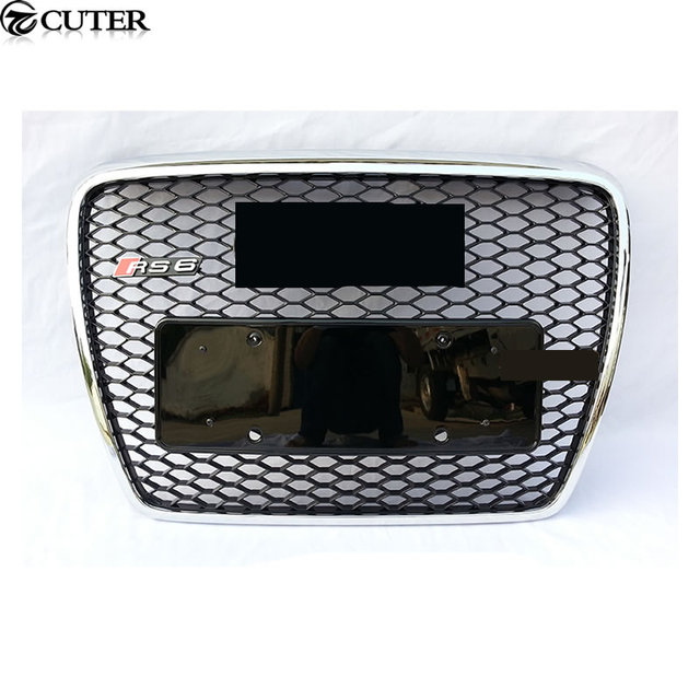 A6 C6 S6 Abs Chrome Frame Racing Grills Auto Car Front Grille For