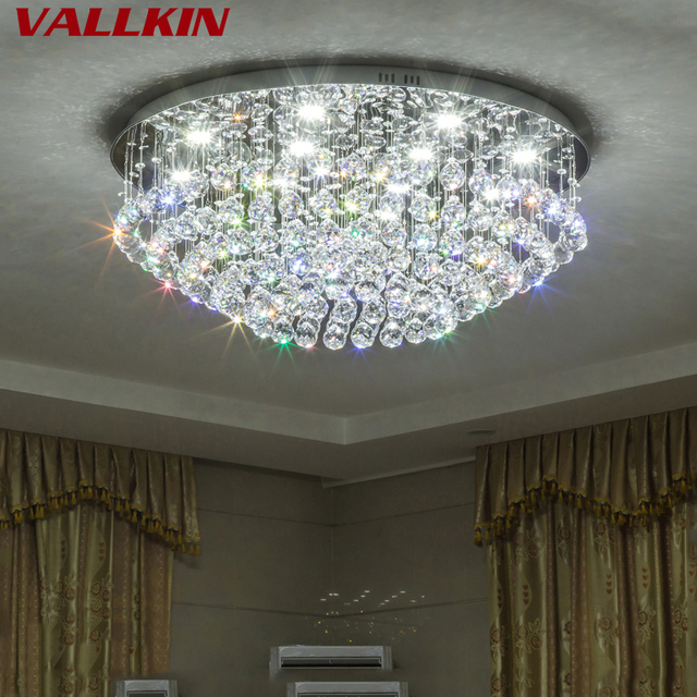 Simple crystal modern led ceiling lights for living room bedroom home indoor decoration led ceiling lamp