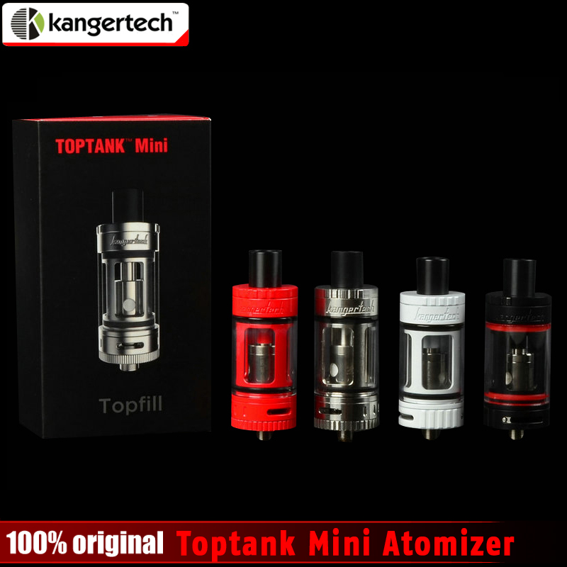 100% Originale Kangertech Toptank Mini Atomizzatore 4.0 ml Top Ricarica Sub Ohm Serbatoio con Delrin Drip Tip 4 colori con 510 filo