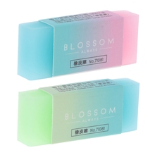 Soft Durable Flexible Cube Cute Colored Pencil Rubber Erasers For School Kids