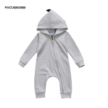 2colors Cute Dinosaur Baby Hooded Fall Romper Jumpsuit Playsuit Newborn Boy Girl Warm Autumn Clothes Outfits