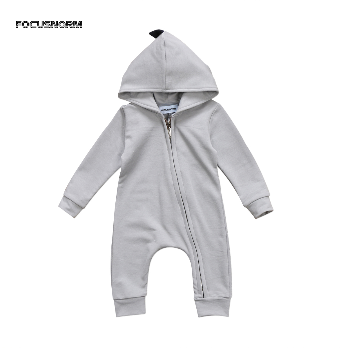 mmababy Baby Boy Girl 3D Dinosaur Costume Solid pink gray   Rompers   warm spring autumn cotton   romper   Playsuit Clothes