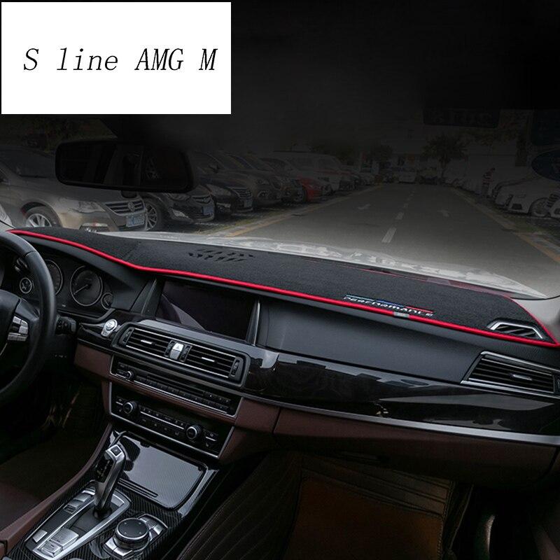Voiture style tableau de bord tapis de protection ombre coussin couvre autocollants garniture pour BMW série 5 f10 f18 intérieur Auto accessoires