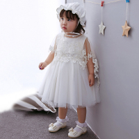 2018 New Baby Girl Dresses Flower Princess Kids Baby Dress for Infant Little Girl Elegant 1 Year Old Birthday Wedding Party Wear