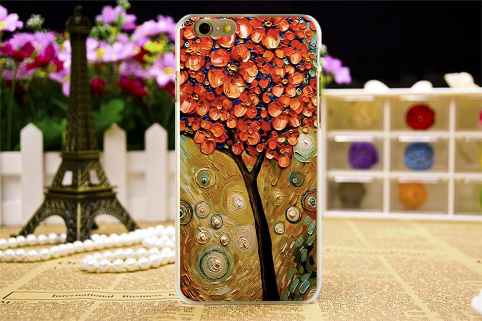 TAOYUNXI Flowers Painted Cases For Apple iPhone 6 6S 66S 6G iphone6 Covers Hard Silicone Plastic Housing Back Bag For iPhone66S