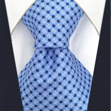 Silk Ties for Men Extra Long Neck Paisley Solid Blue Stripes