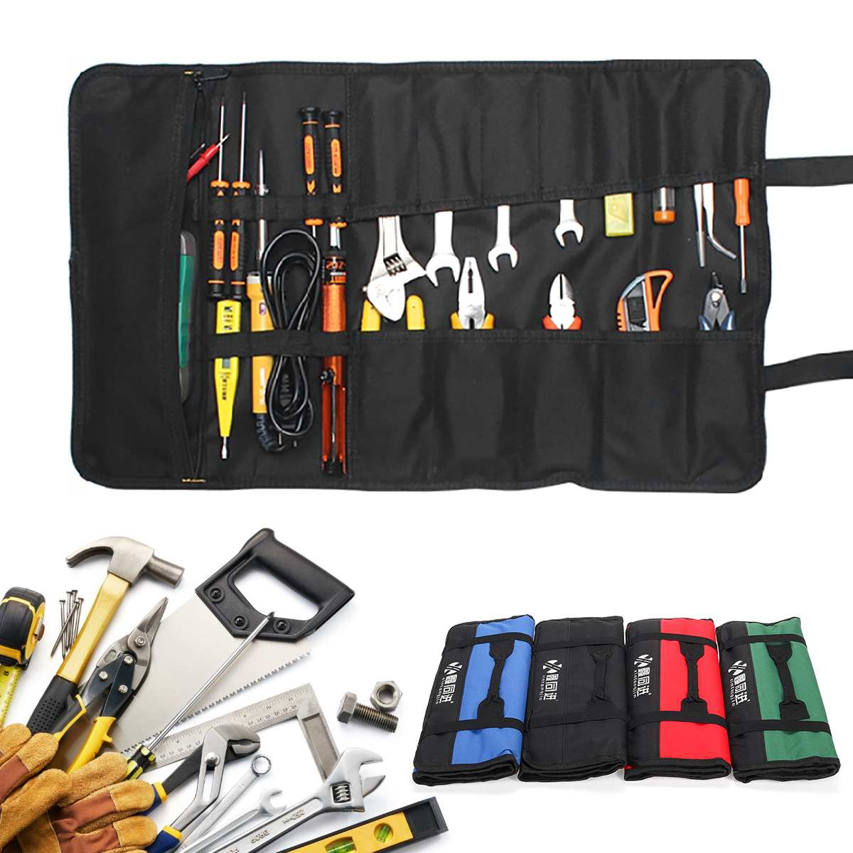 Cloth-Bags Wrench Screwdriver Pocket-Roll-Bag Repair-Tool Multifunction Storage Oxford