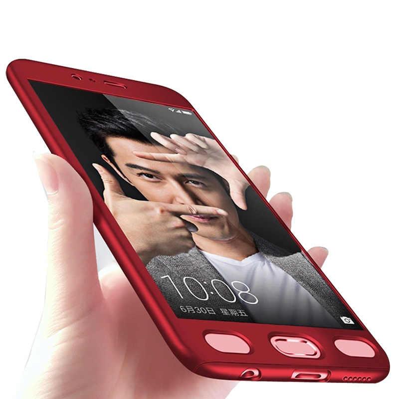 360 درجة الأحمر غطاء الهاتف المحمول أكياس واقية غطاء ل ممن لهم A53 A57 A59/F1S A71 A77 F5 مع الزجاج المقسى رقيقة جدا كابا