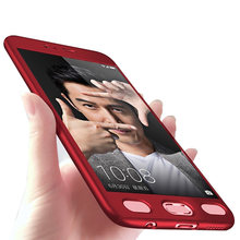 360 Degree Red Cover Mobile Phone Bags Protective Cover For Oppo A53 A57 A59/F1S A71 A77 F5 With Tempered Glass Ultra thin Capa(China)