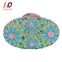 Luxury Evening Bag for Party Women Crystal Wedding Bag Ladies Party Purse Pochette Soiree Dinner clutch
