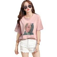 shintimes Camisas Mujer 2019 Summer Women Fashion Print T-shirt Funny T Shirts Woman TShirt Female Cotton  Kawaii Korean Clothes