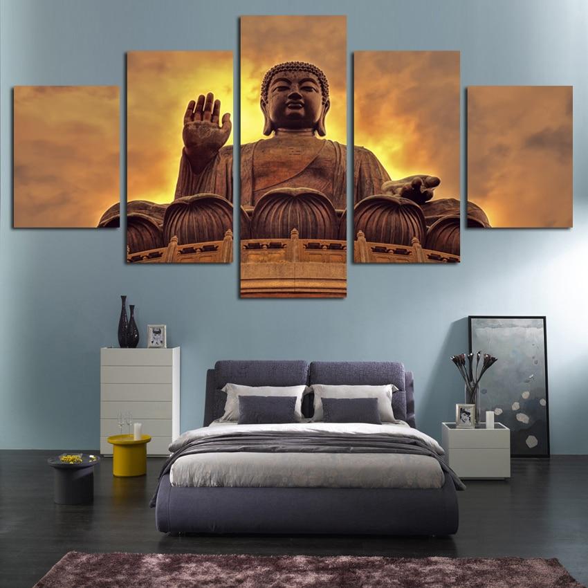 Free Shipping Buddha Canvas Art Unframed Painting Modern