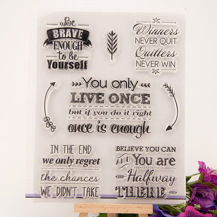 LETTER SLOGAN Clear stamp Scrapbook DIY Photo Album Card Hand Account Rubber Product Transparent Seal Stamps school Kid gift lovely animals and ballon design transparent clear silicone stamp for diy scrapbooking photo album clear stamp cl 278