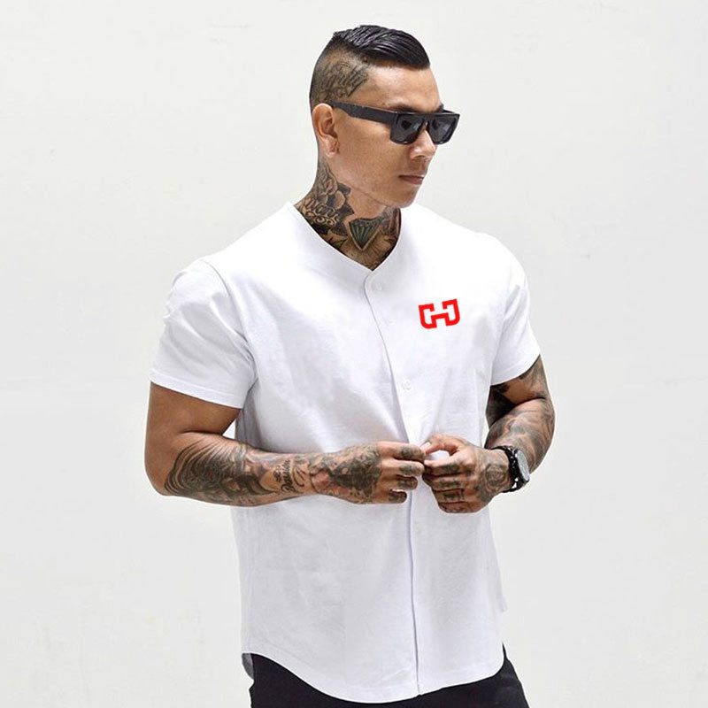 new product 9187f 1972d US $8.83 43% OFF|Men's Baseball Jersey New Arrival Cropped Tee Men T shirts  Short Sleeve Tshirt Sportswear-in T-Shirts from Men's Clothing on ...