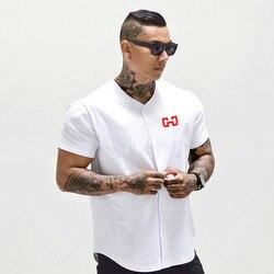 Męska Baseball Jersey New Arrival przycięte Tee męskie koszulki z krótkim rękawem Tshirt odzież sportowa 1