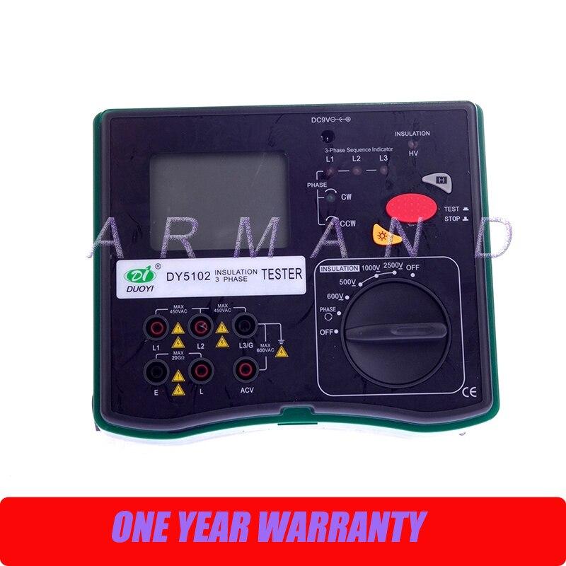 Здесь продается  DY5102 Insulation Tester Megohmmeter 2500V + Voltmeter + Phase Indicator 3 in 1  Инструменты