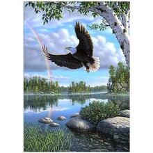 DIY 5D diamond painting animal eagle landscape cross stitch mosaic diamond embroidery rhinestone decoration craft стоимость