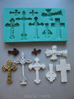 Silicone Mould CROSSES 2 Sugarcraft Cake Decorating Fondant Mold Fimo Molds For Cake Decorations