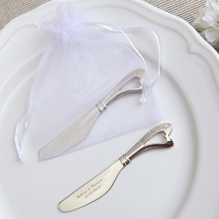 50Pcs õõnsad südamed Kohandatud pulm kingitused Spreader Või nuga - Pühad ja peod - Foto 1