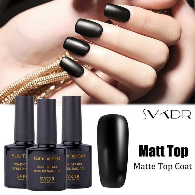 SVKDR 1pc UV Gel Nail Matte Top Coat Matte Nail Polish Top Coat ...