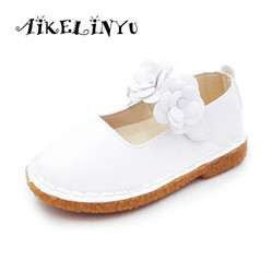 Aikelinyu 2017 autumn children flats shoes girls toddler flower kids baotou princess shoes girl leather shoes.jpg 250x250
