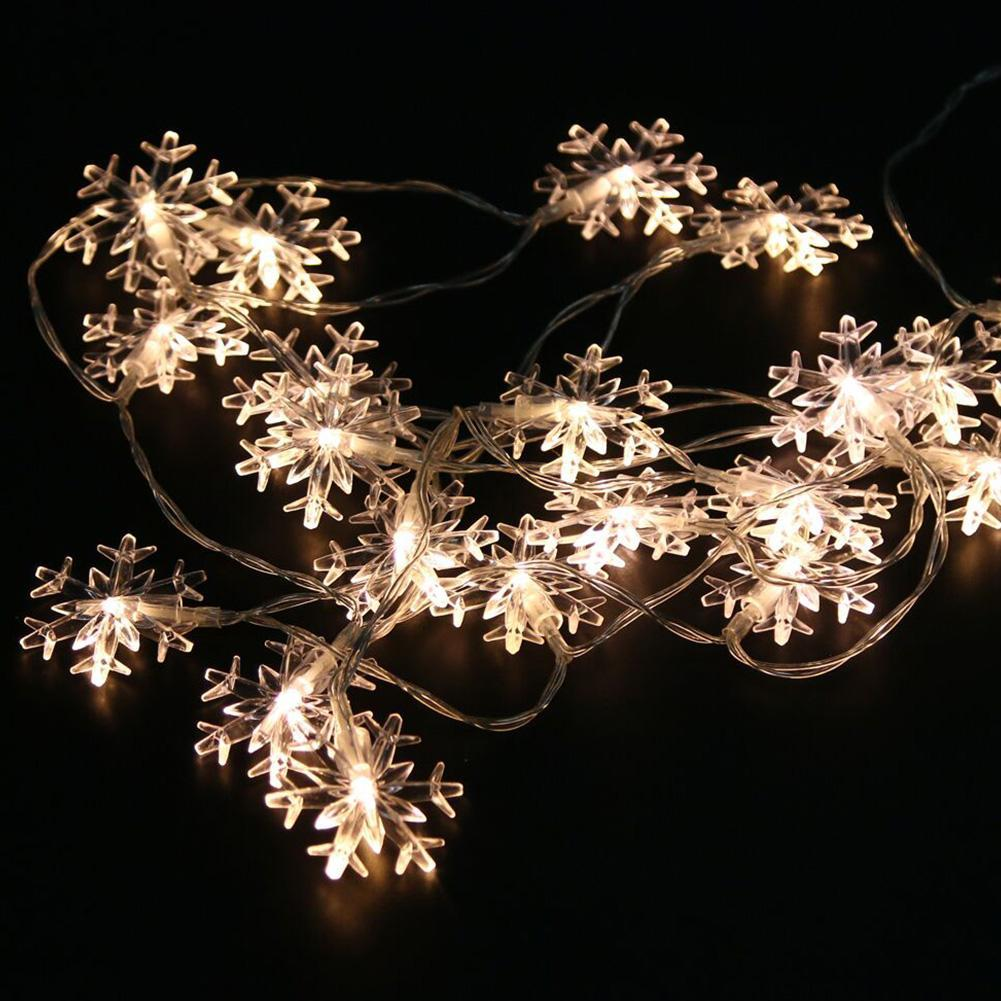 2M 20Leds Christmas Tree Snow Flakes Led String Fairy Light Xmas Party Home Wedding Garden Garland Christmas Decorations
