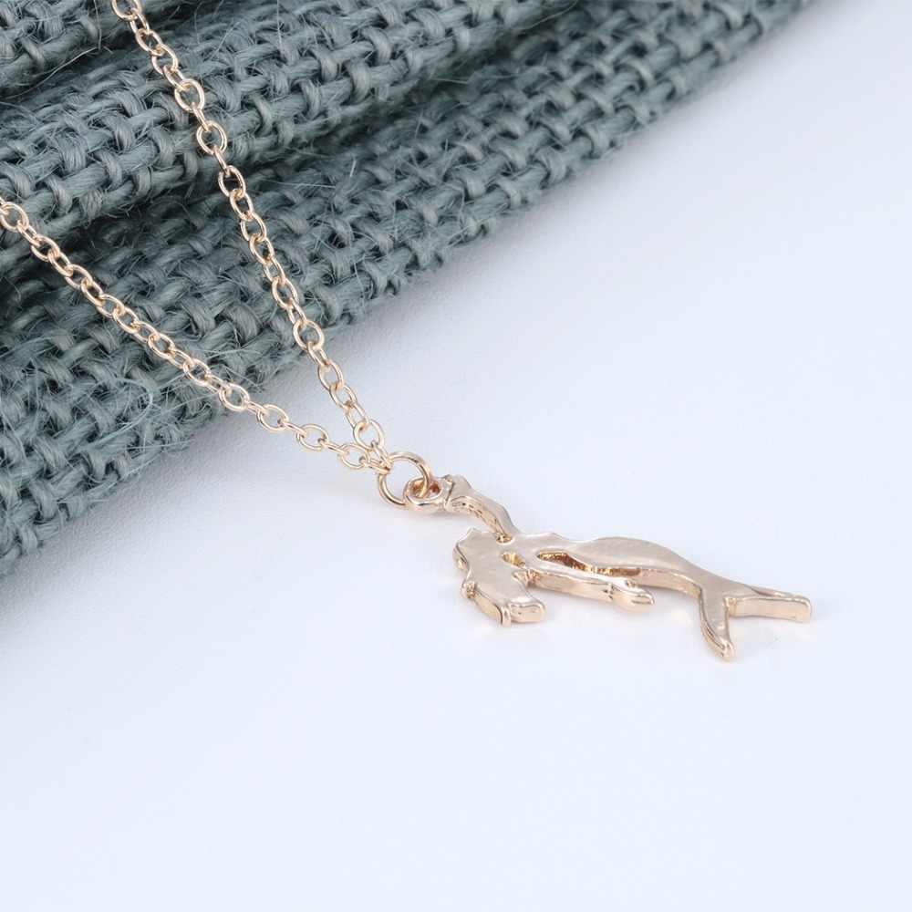 Chandler Gold สี Silver Plated Little Mermaid Charms สร้อยคอ Beach Sea - maid Statement รูป Love เครื่องประดับหาสำหรับผู้หญิง